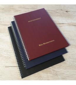 Hardcover - Leinenstruktur mit Drahtringbindung DIN A4