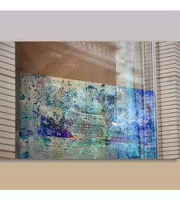 Drucke auf transparente Klebefolie