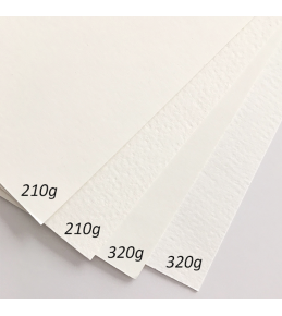 auf 210g Aquarell-Strukturpapier, matt & cremeweiß